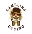 Casino retro logo on a white background vector image vector image