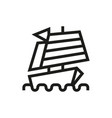 chinese ship icon on white background vector image vector image