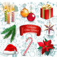 christmas new year holiday decoration realistic vector image vector image