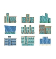 Collection of public buildings vector image vector image