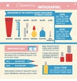 Cosmetics infographic vector image vector image