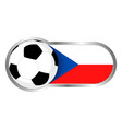 czech republic soccer icon vector image vector image