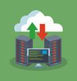 database storage technology vector image