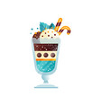 delicious ice cream in a glass cup vector image