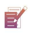 document pages and marker icon vector image vector image