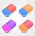 eraser set color vector image vector image