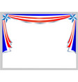 festive patriotic american flag frame vector image vector image