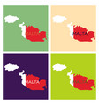 flag map of malta vector image