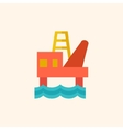 Fossil Fuel Flat Icon vector image