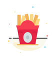 fries fast food food usa abstract flat color icon vector image vector image