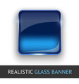Glass banner for your design
