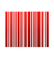 Graphical red bar code vector image