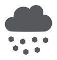 hail glyph icon weather and meteorology cloud vector image vector image