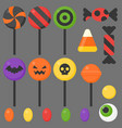 halloween candy flat design icon vector image vector image