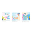 hand hygiene compositions set vector image vector image
