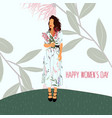 happy mothers day international womens day vector image