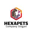 Hexa Pets Design vector image