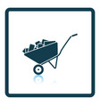 icon of construction cart vector image vector image