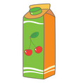juice box packing vector image vector image