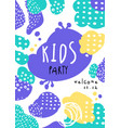 kids party poster with date template can be used vector image vector image