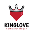 King Love Design vector image