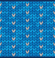 knit christmas geometric ornament design vector image