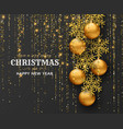 merry christmas background with shiny snowflakes vector image vector image
