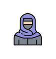 muslim woman in niqab traditional arabic dress vector image