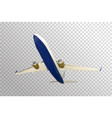naturalistic plane takes off bottom view isolated vector image vector image