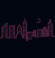 neon light city vector image vector image