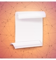 Paper Ribbon Banner on Wireframe Technology vector image vector image