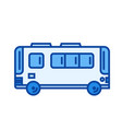 passenger bus line icon vector image vector image