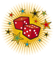 Red dices design vector image