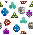 seamless pattern celtic symbols set celtic icons vector image vector image