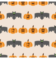 seamless pattern of bats and pumpkins vector image vector image