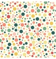 Seamless pattern vintage polka dot texture vector image
