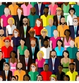 seamless pattern with a large group of men vector image