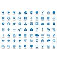 Set of blue navigation web icons vector image