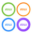 Set of Watercolor Colorful Grunge Circle Stains vector image