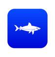 shark fish icon digital blue vector image vector image