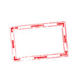 stamp rectangle decor 7 vector image vector image