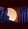 superhero background night vector image