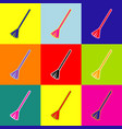 sweeping broom sign pop-art style vector image vector image