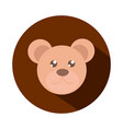 teddy bear face toy object for small children vector image vector image