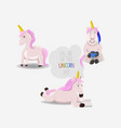 unicorns with corn horns and a motivational quote vector image
