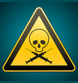 warning sign drug addiction and aids caution vector image vector image