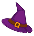 witch hat for halloween celebration headwear of vector image vector image