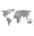 world map with lines vector image vector image