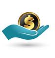 symbol of money in hand vector image