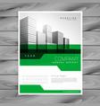 abstract green geometric company brochure vector image vector image